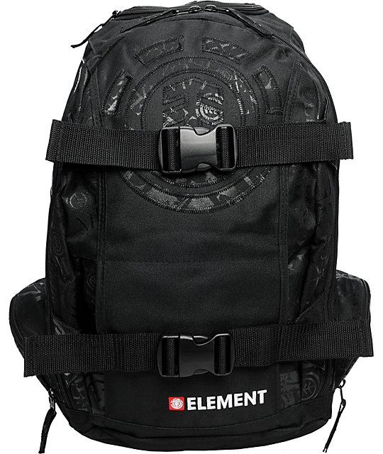 Element Scatterbrain Black Skate Backpack