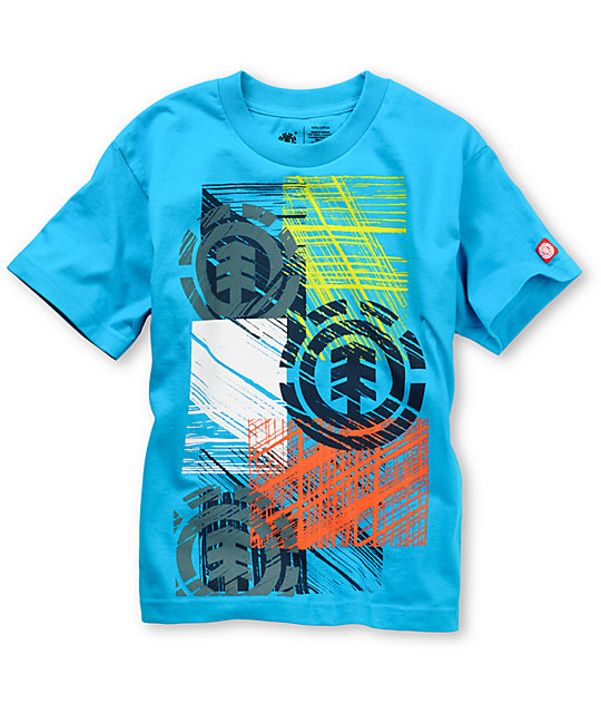 Element Sketched Boys Turqoise T-Shirt