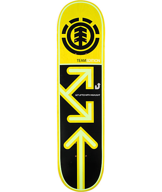 "Element Team Drop Down 7.75""  Skateboard Deck"