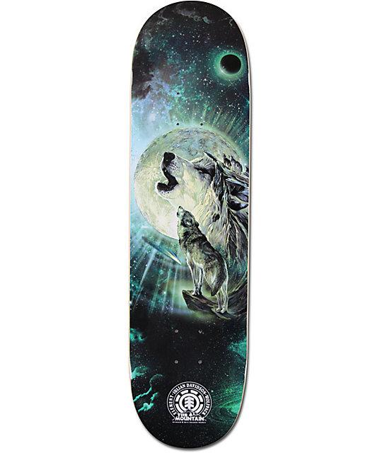 skateboard deck wolf
