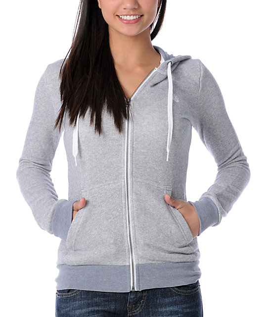 Element Yena Grey Zip Up Hoodie