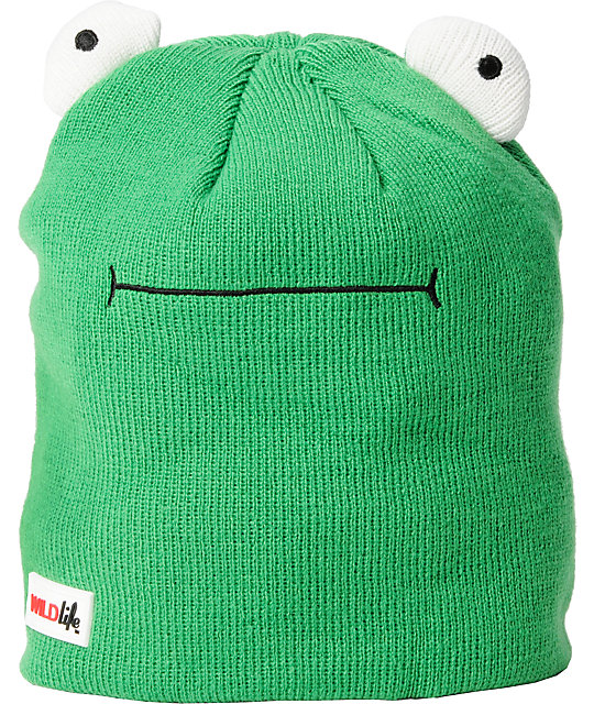 Elm Wildlife Frog Green Beanie
