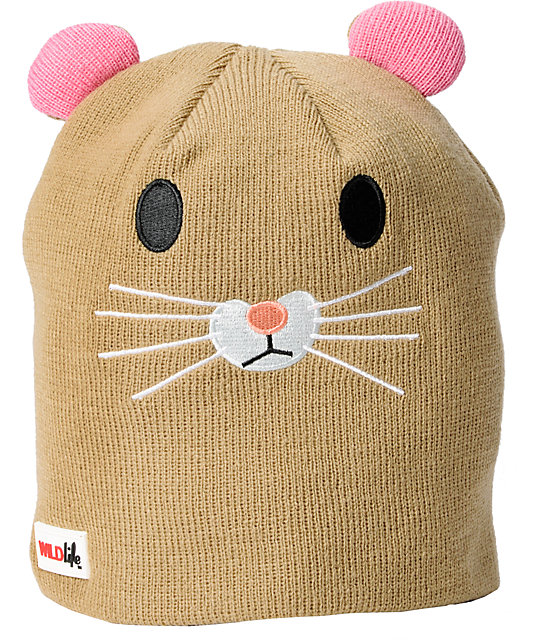 Elm Wildlife Hamster Brown Beanie
