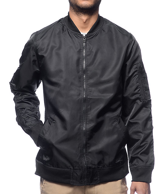 Elwood Black Nylon Bomber Jacket at Zumiez : PDP
