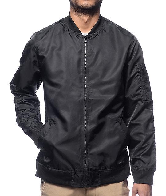 Elwood Black Nylon Bomber Jacket at Zumiez : PDP