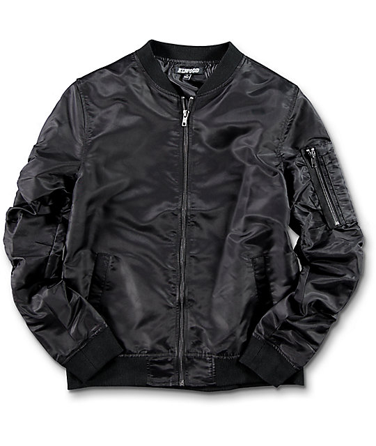 Elwood Boys Black Bomber Jacket | Zumiez