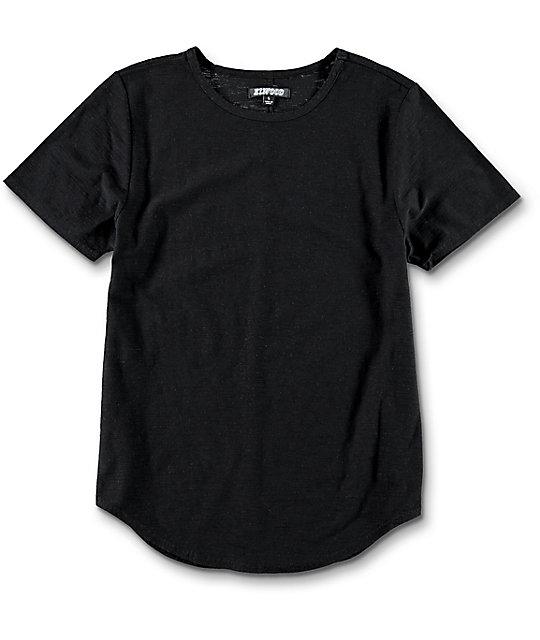 Elwood Boys Curved Seam Hem Black T-Shirt | Zumiez
