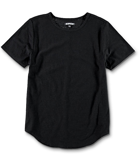 Elwood Boys Curved Seam Hem Black T-Shirt at Zumiez : PDP