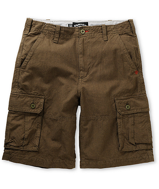 Elwood Desert Storm Brown Cargo Shorts