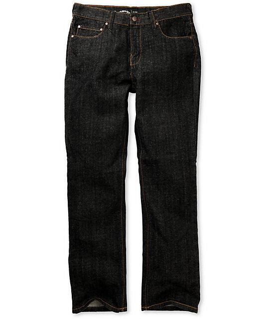 Elwood Dry Black OG Rigid Regular Fit Jeans