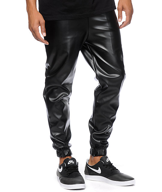NWT TRENDY STRETCH FASHION FAUX LEATHER JOGGER PANTS FAUX LEATHER REGULAR N PLUS. Brand New. $ Buy It Now +$ shipping. 4+ Watching. NWT Lush Harem Jogger Pants Cream Crinkle Casual Viscose Faux Leather Band Sheer. Brand New. $ Time left 3d 13h left. 0 bids. or Best Offer +$ shipping.