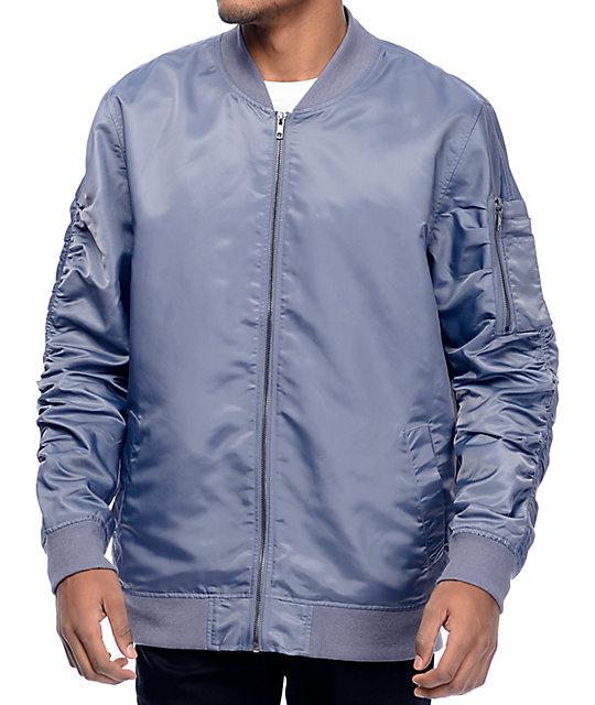 Elwood Slate Grey Bomber Jacket