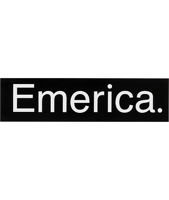 Emerica Black & White Logo Sticker