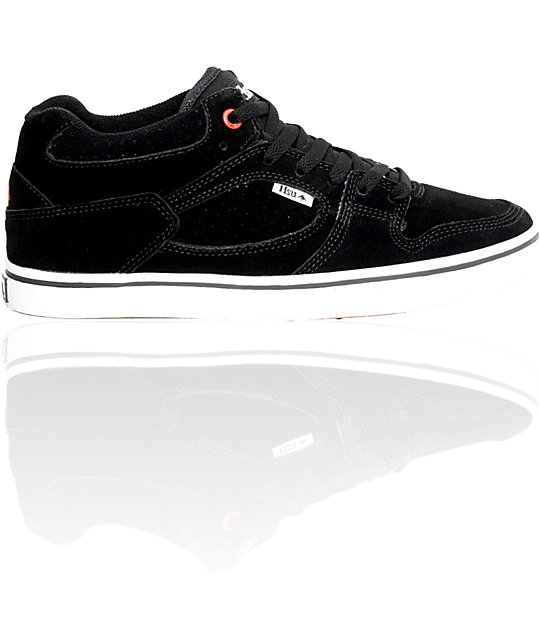Emerica Boys Hsu Black & White Shoes