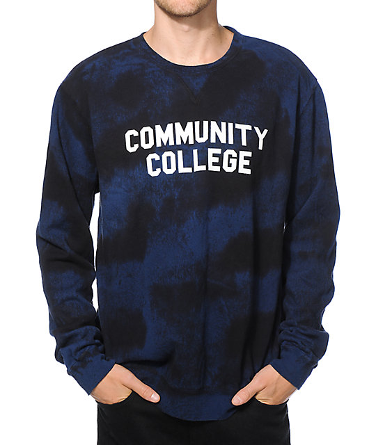 Emerica Community College Tie Dye Crew Neck Sweatshirt