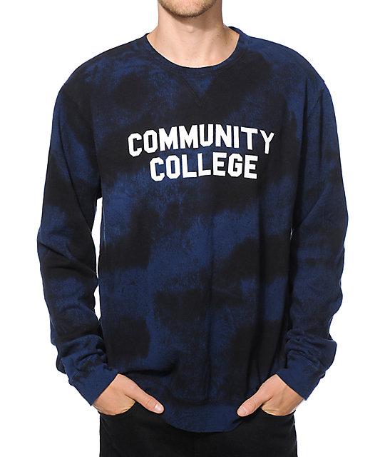 Emerica Community College Tie Dye Crew Neck Sweatshirt at Zumiez : PDP