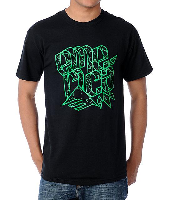 Emerica Flake Black Skate T-Shirt