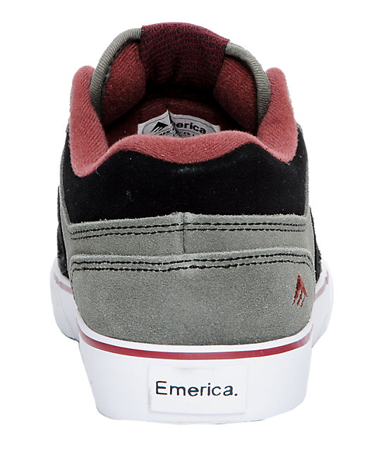 Emerica Francis Lo Black, Grey & Red Shoes