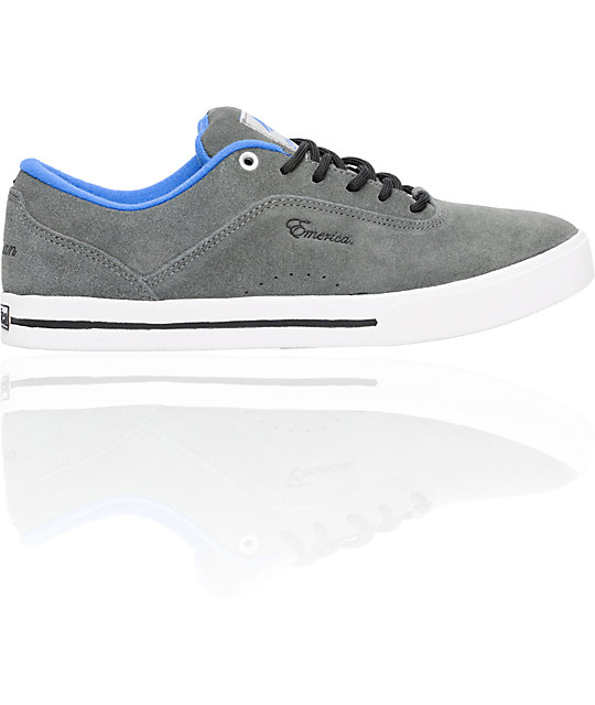 Emerica G-Code Grey & White Herman Shoes