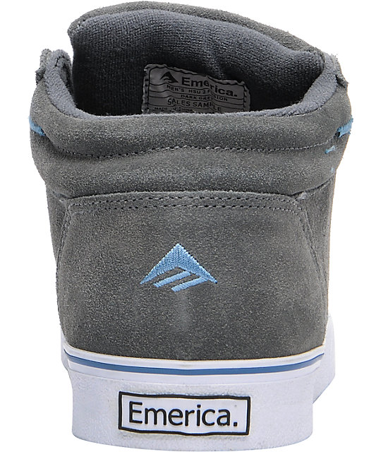 Emerica HSU 2 Dark Grey Suede Skate Shoes