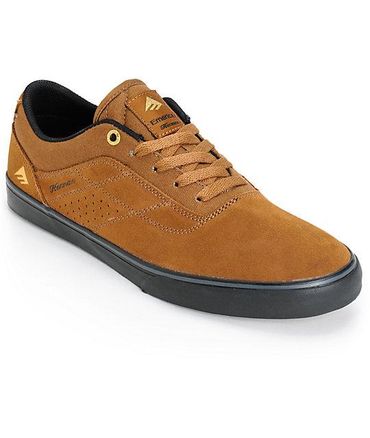 Emerica Herman G Vulc Shoes Brown Black