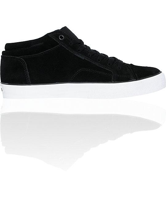 Emerica Hsu 2 Fusion Black & White Skate Shoes