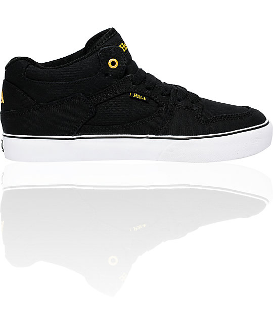emerica hsu black white canvas shoes
