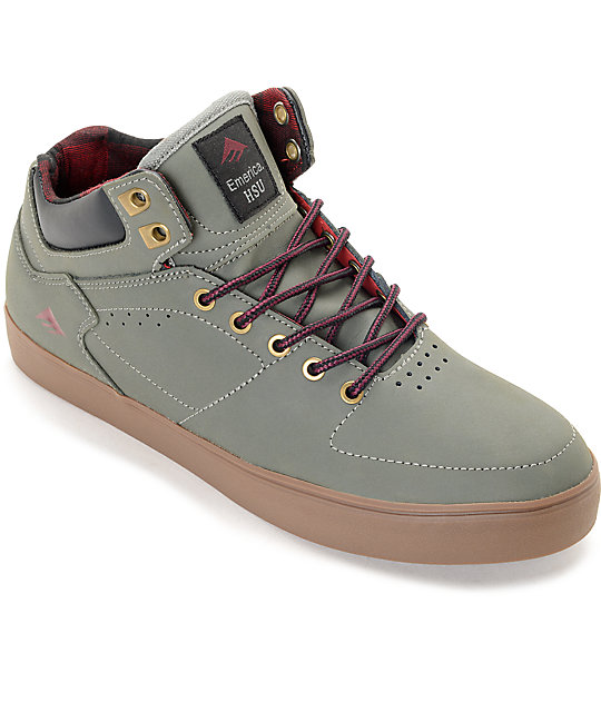 Emerica Hsu G6 Weatherized Moss & Gum Skate Shoes