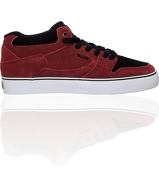 Emerica Hsu Maroon & Black Shoes
