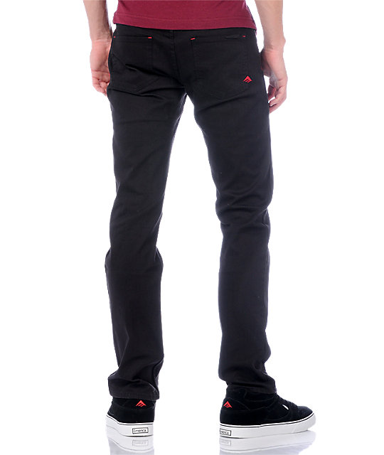 Emerica Hsu Twill Black Pants