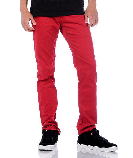Emerica Hsu Twill Red Pants