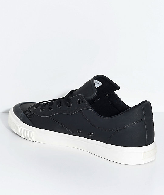Emerica Indicator Low Black & White Synthetic Leather Skate Shoes