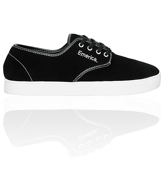 Emerica Laced Black, White & Silver Shoes
