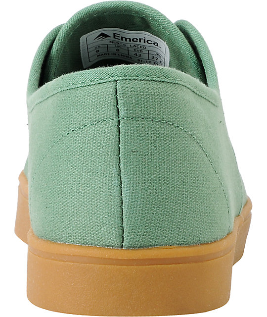 Emerica Laced Green & Gum Skate Shoes