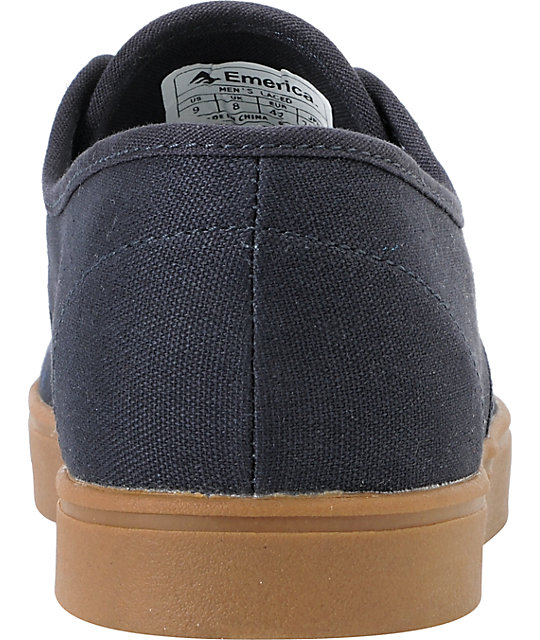 Emerica Laced Navy Gum Skate Shoes