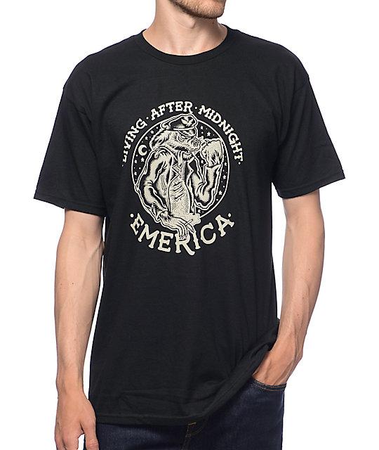 Emerica Living After Midnight Black T-Shirt