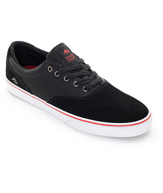 Emerica Provost Slim Vulc Black Denim Skate Shoes