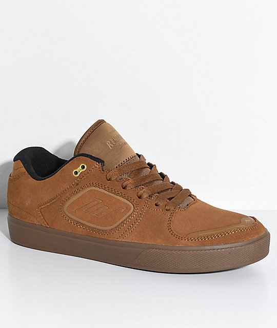 Emerica Reynolds G6 Brown & Gum Suede Skate Shoes