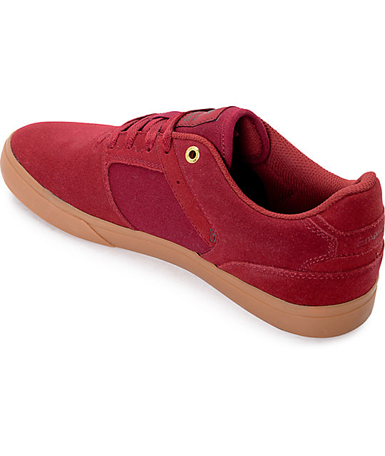 Emerica Reynolds Vulc Burgundy & Gum Skate Shoes
