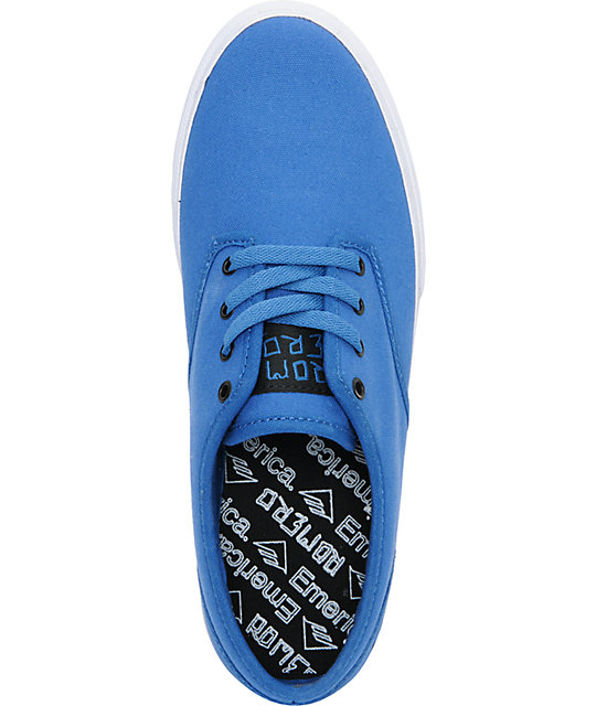 Emerica Romero 2 Blue Canvas Skate Shoes