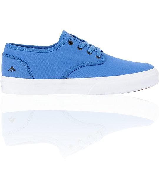 Emerica Romero 2 Blue Canvas Skate Shoes
