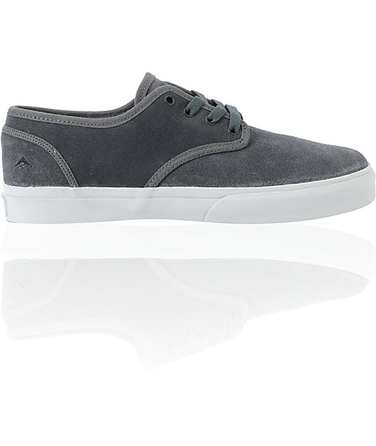 Emerica Romero 2 Grey Suede Skate Shoes