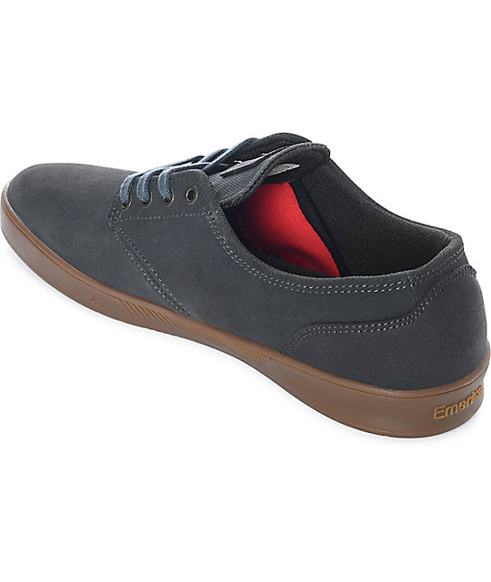 Emerica Romero Laced Dark Grey & Gum Suede Skate Shoes