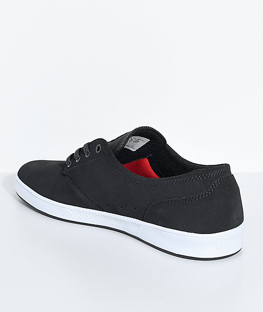 Emerica Romero Laced Dark Grey & White Suede Skate Shoes