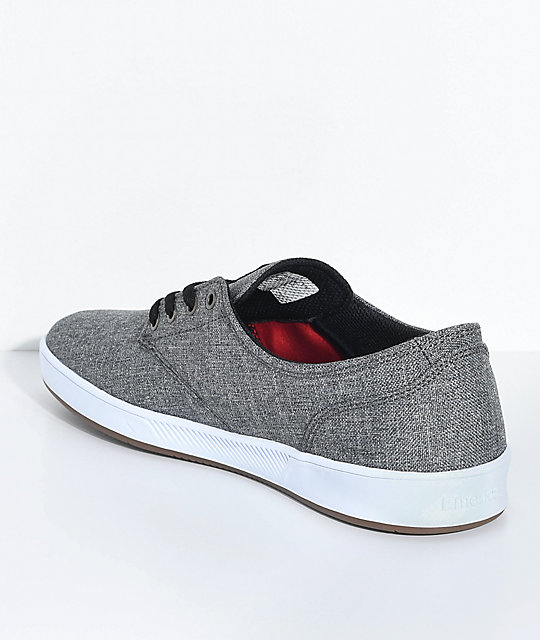 Emerica Romero Laced Grey, White & Gum Skate Shoes