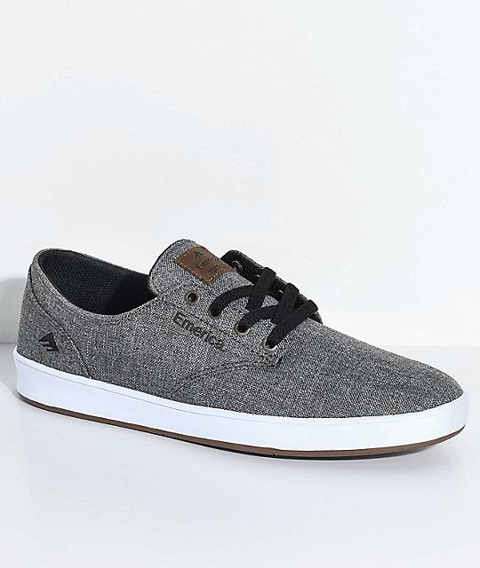 Emerica Romero Laced Grey, White & Gum Skate Shoes