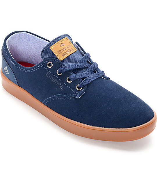 Emerica Romero Laced Navy & Gum Suede Skate Shoes
