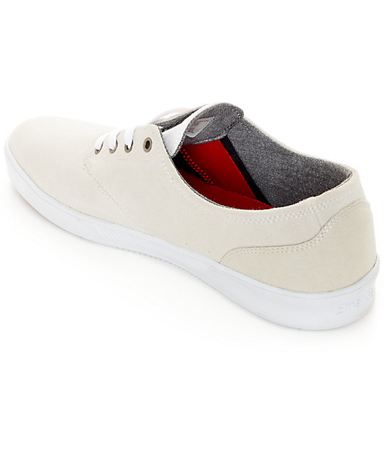 Emerica Romero Laced White Skate Shoes