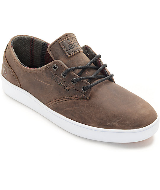 emerica romero x eswic premium leather skate shoes zumiez