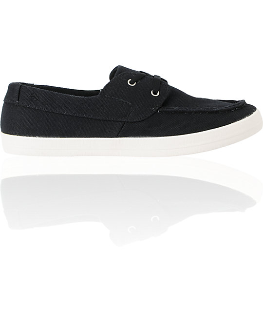 Emerica Seahag Fusion Black Canvas Chill Seeker Shoes